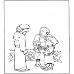 Pinturas bibel - 5 pães e 5 peixes 1