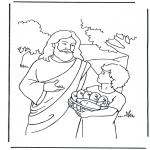 Pinturas bibel - 5 pães e 5 peixes 4