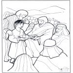 Pinturas bibel - 5 pães e 5 peixes