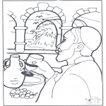 Pinturas bibel - A água tornou-se vinho