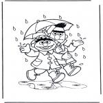 Crianças - À chuva