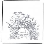 Personagens de banda desenhada - Alice no país das maravilhas