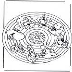 Pinturas Mandala - Animais de recortar 2