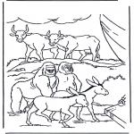 Pinturas bibel - Animais na arca