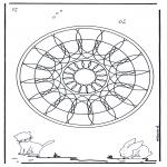 Pinturas Mandala - Animal geo mandala 4