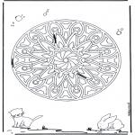 Pinturas Mandala - Animal geo mandala 6