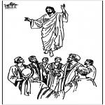 Pinturas bibel - Ascensão de Jesus 2