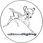 Personagens de banda desenhada - Bambi - Convite