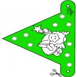 Natal - Bandeira de decoração Natal 10