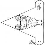 Natal - Bandeira de decoração Natal 8