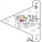 Natal - Bandeira de decoração Natal 9