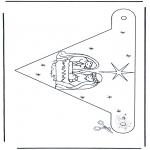Natal - Bandeira de decoração Presépio