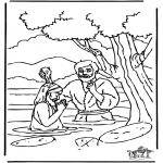 Pinturas bibel - Baptismo Jesus 1