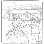 Personagens de banda desenhada - Barbie e o príncipe 2