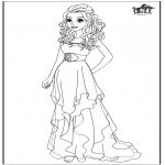 Personagens de banda desenhada - Barbie - Vestido de casamento