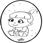 Tema - Bebé - Cartão de picotar 1