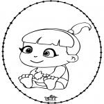Tema - Bebé - Cartão de picotar 2