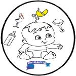 Tema - Bebé - Cartão de picotar 3
