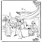 Pinturas bibel - Boaz e Rute
