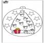 Bola de Natal com árvore de Natal