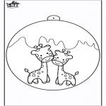 Natal - Bola de Natal - Girafa