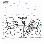 Inverno - Boneco de Neve 4