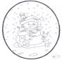 Boneco de neve - Cartão de picotar