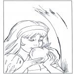 Todos os tipos de - Branca de Neve comendo maçã