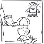 Crianças - Brinquedos para colorir 1