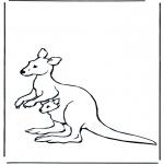 Animais - Canguru com bebé