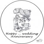 Tema - Cartão .. ano de casamento