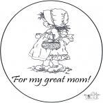 Ofícios - Cartão de agradecimento - mamãe
