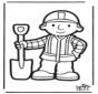 Cartão de Furar Bob o Construtor 2