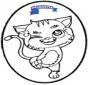 Cartão de Furar - gato