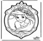 Cartão de Furar Princesas Disney 1