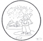Cartão de Inverno de picotar 1