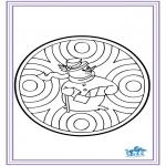 Cartões de picotar - Cartão de Inverno de picotar 6