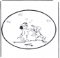 Cartão de picotar - 101 Dalmatians 3