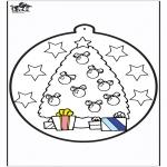 Natal - Cartão de picotar - Árvore de Natal 1