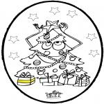 Natal - Cartão de picotar - Árvore de Natal 3
