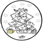 Cartão de picotar - Árvore de Natal 3