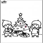 Natal - Cartão de picotar - Árvore de Natal 4