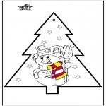 Natal - Cartão de picotar - Boneco de neve 2