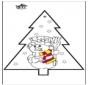 Cartão de picotar - Boneco de neve 2