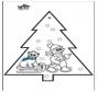 Cartão de picotar - Boneco de neve 3