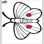 Animais - Cartão de picotar - borboleta
