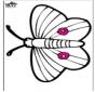 Cartão de picotar - borboleta