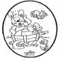 Cartão de picotar - Coelhinho da Páscoa