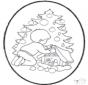 Cartão de picotar de árvore de Natal