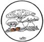 Cartão de picotar - Fungi